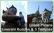 Grand Palace and Emerald Buddha and 3 Temples